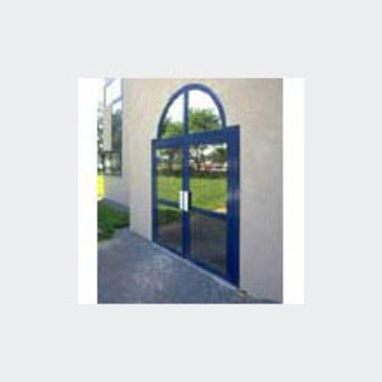Porte en aluminum un ou deux vantaux 1424 kamelia - Porte deux vantaux ...