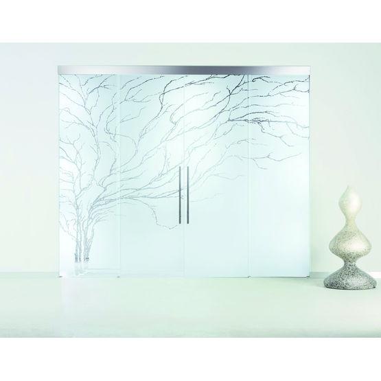 Porte en verre coulissante escamotable casali - Portes en verre coulissantes ...