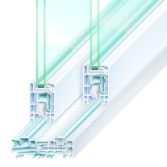 Porte fen tre levante coulissante en pvc trocal for Fenetre coulissante pvc standard