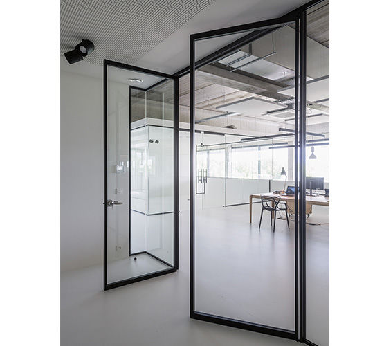Porte Intérieure Vitrée Tertial HOYEZ PARTITIONSYSTEMS - Porte vitrée sur pivot