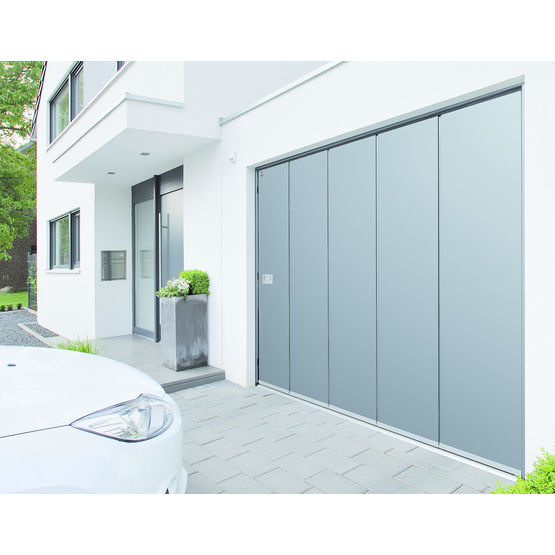 Porte lat rale avec tablier en acier isol motifs hst h rmann - Porte de garage laterale prix ...