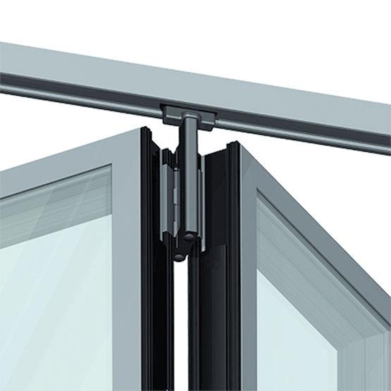 Porte repliable en aluminium de tr s grandes dimensions jusqu 39 10 vantau - Paumelle porte interieur ...