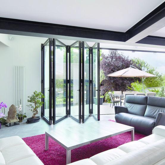 baie vitre pliante grande fentre baievitre les modles. Black Bedroom Furniture Sets. Home Design Ideas