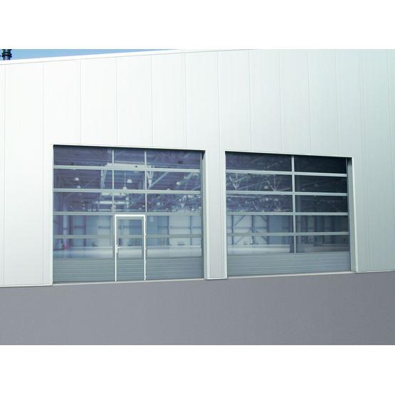 Porte sectionnelle vitr e soubassement plein novolux novoferm industrie - Changer un carreau de porte ...