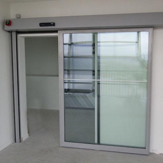 Porte vitr e automatique coulissante coupe feu 60 90 ou - Porte coulissante vitree ...