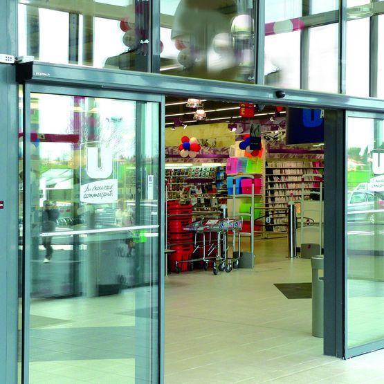 Portes automatiques coulissantes avec ou sans lat raux fixes portalp - Porte automatique portalp ...