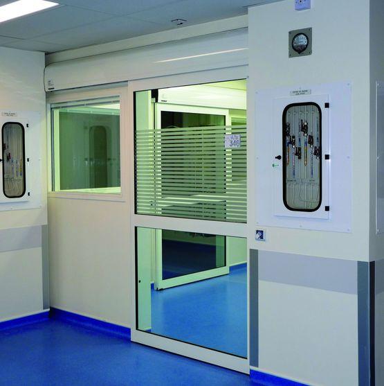 Portes automatiques pour locaux hospitaliers porte hospitali re portalp - Porte automatique portalp ...