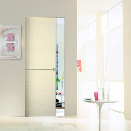 Portes coulissantes ou battantes d 39 aspect bois scrigno for Porte interieure blanche simple