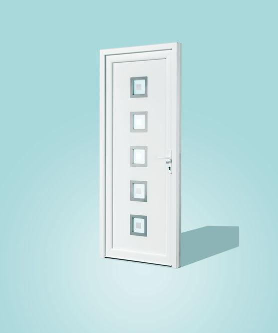 Portes d 39 entr e panneaux en pvc avec diff rentes formes for Decoration porte d entree