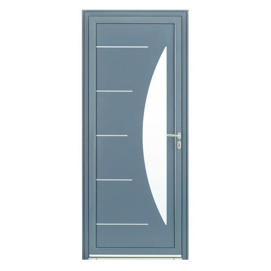 Porte DEntre En Aluminium Avec Triple Vitrage Dpoli En DemiLune
