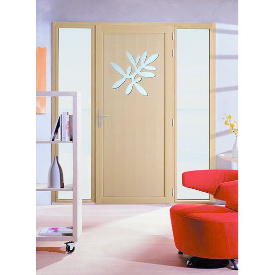 Portes d 39 entr e bois aluminium personnalis es quieta minco for Porte d entree minco