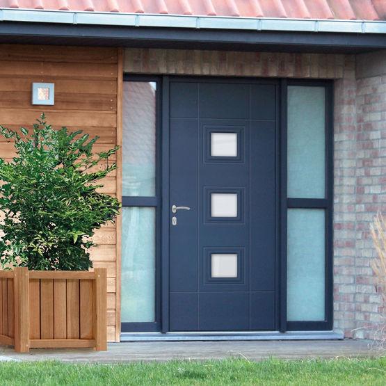 Portes d 39 entr e composite rt doors euradif for Epaisseur porte d entree