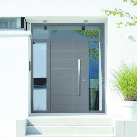 Portes d 39 entr e en aluminium isolation thermique lev e for Acheter porte d entree