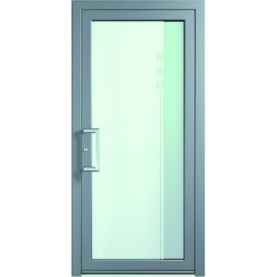 Portes d 39 entr e en aluminium au style pur contemporain portes aluminium a78 finstral for Porte en aluminium