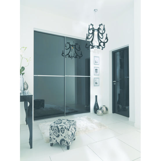 Portes de placard coulissantes en verre laqu reflet - Portes de placard coulissantes lapeyre ...