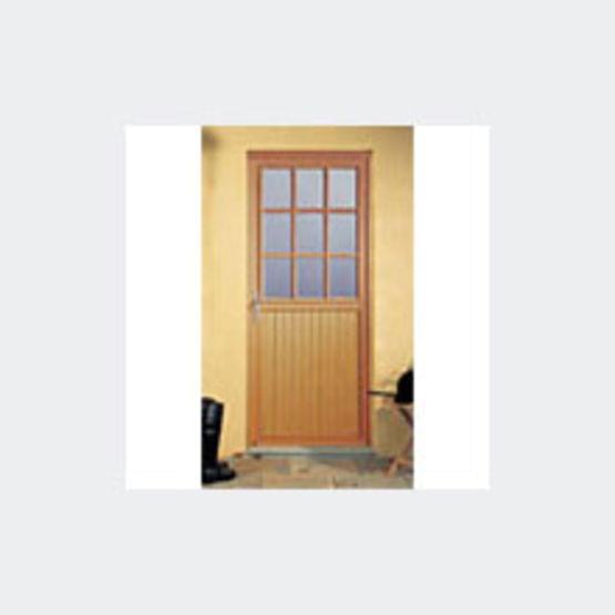 Portes secondaires pleines ou vitr es en bois ou pvc for Porte de service vitree en pvc
