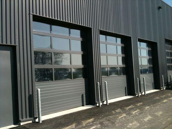 Portes sectionnelles tablier aluminium ou acier isotec thermotec cristal safir - Porte sectionnelle aluminium ...