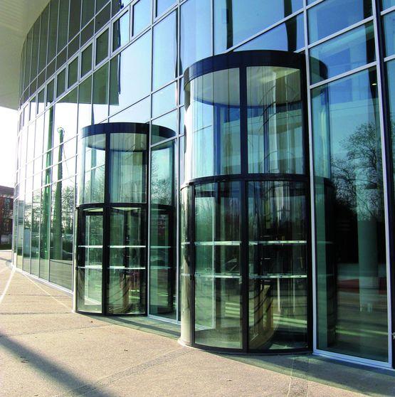 Portes tambours automatiques vitr es trois ou quatre vantaux portalp - Porte automatique portalp ...