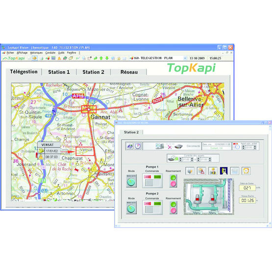 Poste central pour applications monoprotocole de télégestion | Topkapi TG