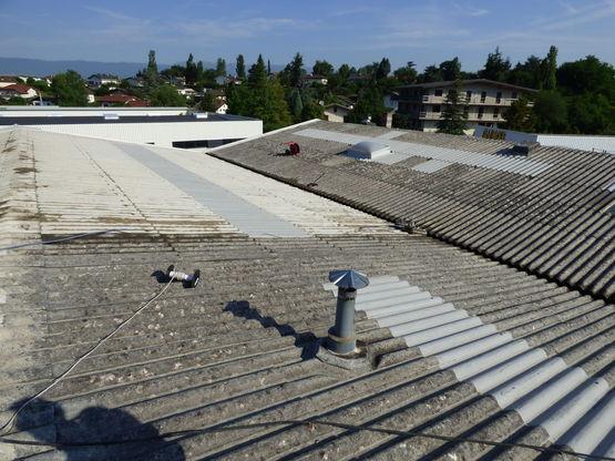 processus de nettoyage et r novation des toitures amiant es spartacus syst me spartacus. Black Bedroom Furniture Sets. Home Design Ideas