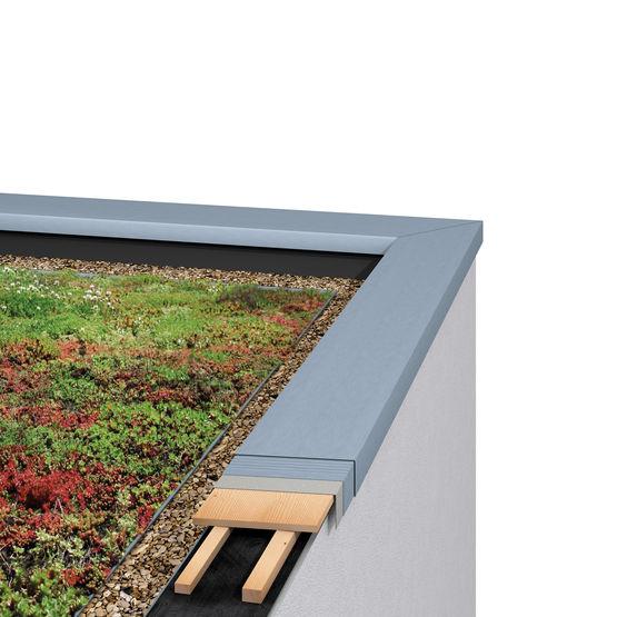 Profil en zinc pour raccords de couvertines et fa tages for Tole en zinc pour toiture