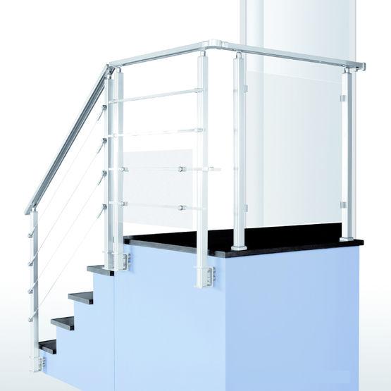 profil s section carr e en aluminium pour garde corps square sogem. Black Bedroom Furniture Sets. Home Design Ideas