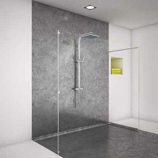 Quincaillerie miniature pour paroi de douche sans joints for Joint carrelage douche