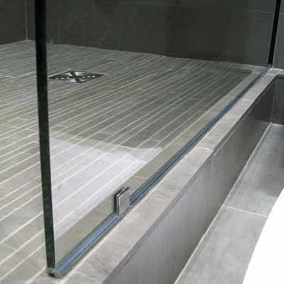 Relativ Quincaillerie miniature pour paroi de douche sans joints ni  RM68