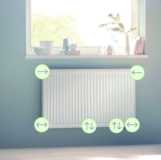 Radiateur fa ades chauffantes et raccordement flexible for Raccorder un radiateur eau chaude