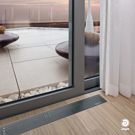 Radiateur encastrable dans le sol micro canal jaga - Purger radiateur salle de bain ...