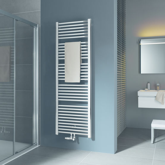 radiateur tubulaire raccordement central et vers le bas basic 50 kermi. Black Bedroom Furniture Sets. Home Design Ideas