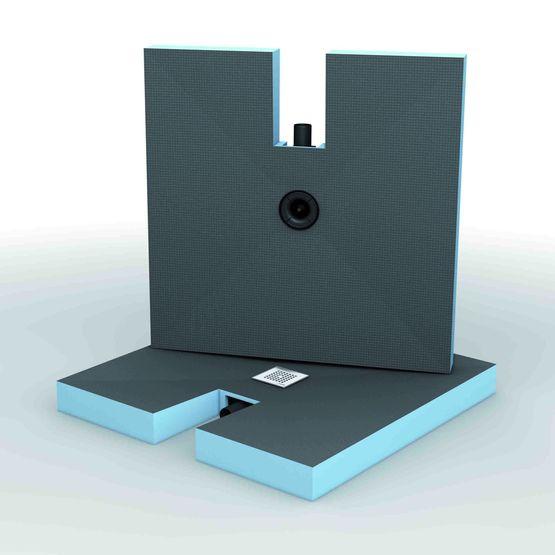 fundo integro receveur de douche wedi complet et extra. Black Bedroom Furniture Sets. Home Design Ideas
