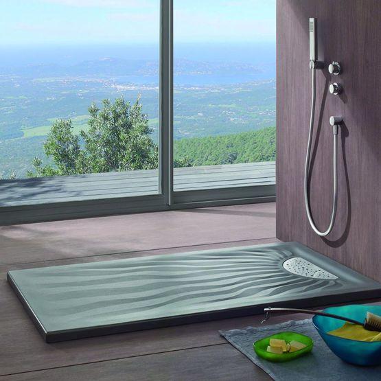 receveur extra plat poser ou encastrer embruns allia. Black Bedroom Furniture Sets. Home Design Ideas