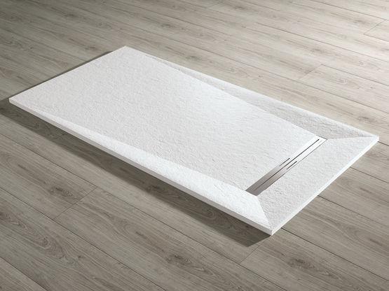 receveur sur mesure prisma slate acquabella. Black Bedroom Furniture Sets. Home Design Ideas