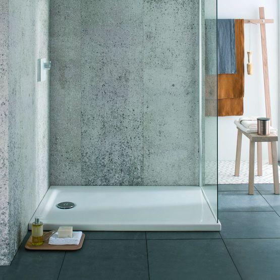 Fantastique Receveur de douche extra-plat en céramique pour PMR | Receveur KQ-62