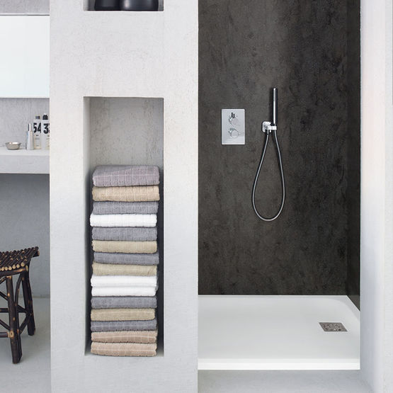 receveurs de douche en corian corian casual shower tray. Black Bedroom Furniture Sets. Home Design Ideas