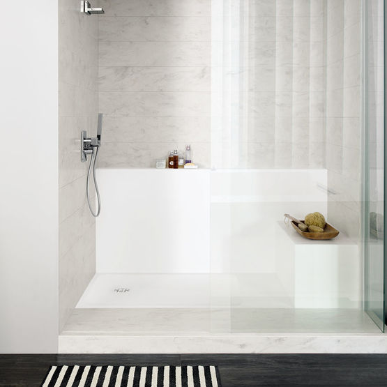 receveurs de douche personnalisables corian smart shower. Black Bedroom Furniture Sets. Home Design Ideas