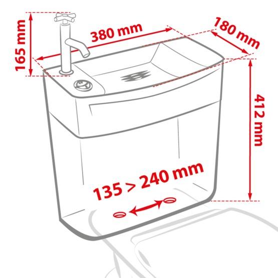 ise 39 o combin r servoir wc avec lave mains int gr. Black Bedroom Furniture Sets. Home Design Ideas