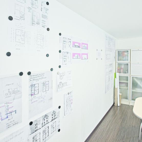 rev tement mural magn tique en voile de verre lisse vitrulan textile glass. Black Bedroom Furniture Sets. Home Design Ideas