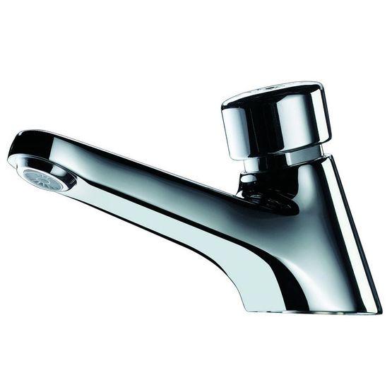 Robinet temporisé pour lavabo avec sécurité anti blocage
