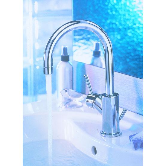 Robinetterie de salle de bains en laiton chrom eliole porcher - Robinetterie laiton salle de bain ...