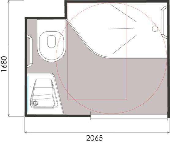 Salle De Bain Prefabriquee A Surface Optimisee Pour Logement Iris Gamme Baudet Intial