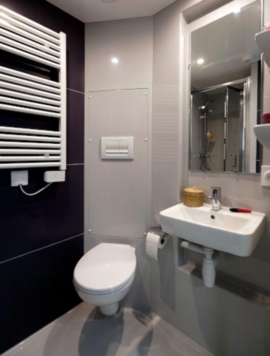 salle de bain pr fabriqu e compacte studio gamme baudet intial baudet sa. Black Bedroom Furniture Sets. Home Design Ideas