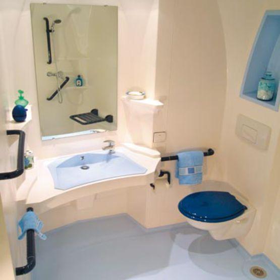 Salle De Bains Monobloc Pour Handicapés Désirade Altor Industrie - Salle de bain handicape