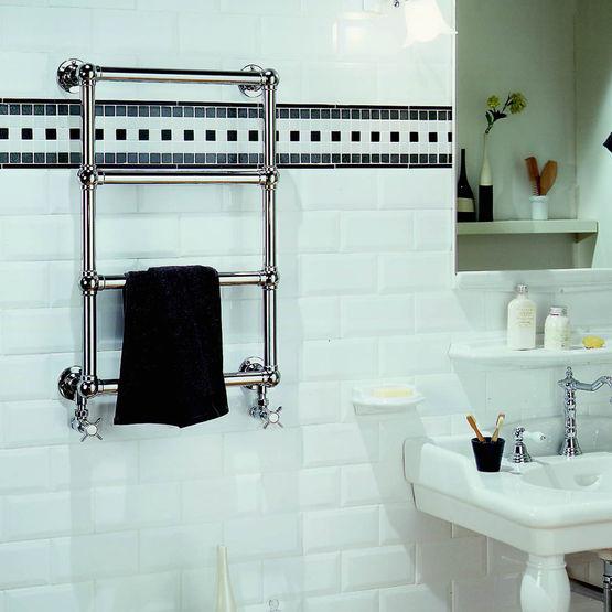 s che serviettes chrom eau chaude ou lectrique buckingham acova. Black Bedroom Furniture Sets. Home Design Ideas