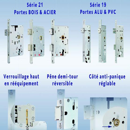Serrure monopoint à verrouillage automatique pour portes anti-panique    Serrures à encastrer Séries 19 51a71b5c671