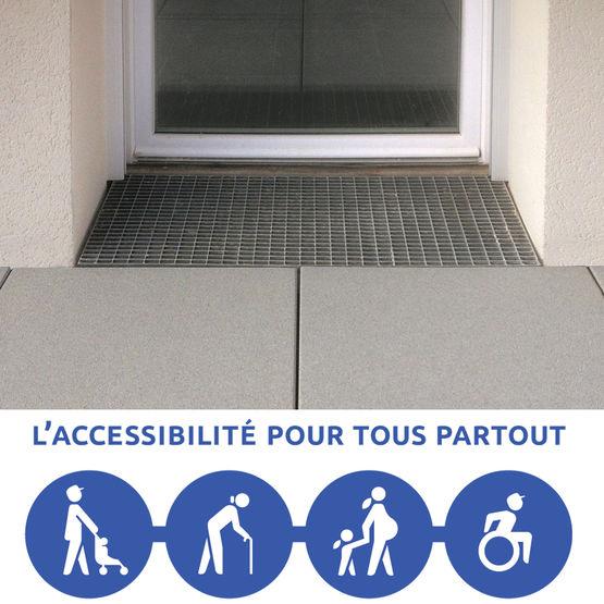 Seuil de porte en b ton pour acc s pmr seuil accea weser - Comment faire un seuil de porte en beton ...