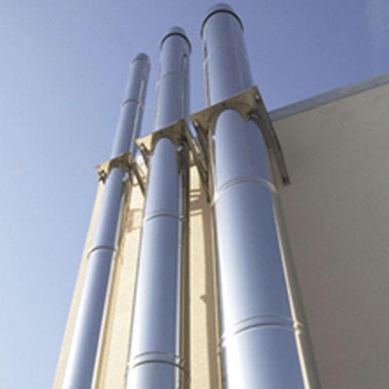 Silencieux cylindrique pour conduits rigides simple ou - Conduit cheminee inox exterieur ...