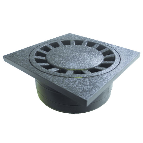 Siphon de cour en pvc antichoc first plast for Siphon de cour 30x30