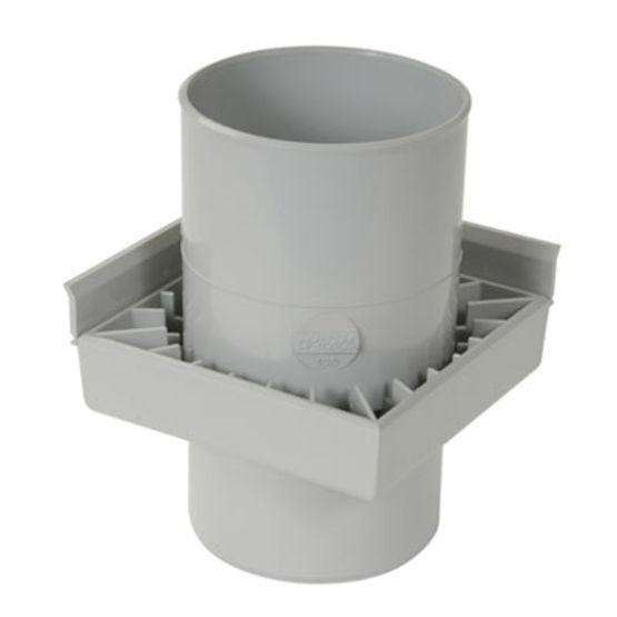 Siphon pour balcon ou terrasse avec sortie de 80 ou 100 mm for Syphon de sol exterieur